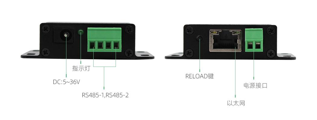 双RS485转以太网模块参数